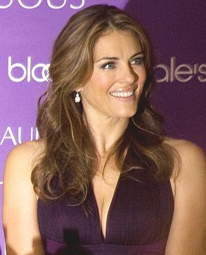 Elizabeth Hurley at the launch of Estee Lauder...