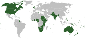 Countries where English is an official or de f...