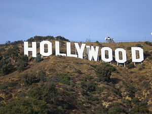 English: The Hollywood Sign as it appears from...