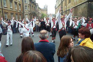 Cotswold Morris dance with handkerchiefs, Oxfo...