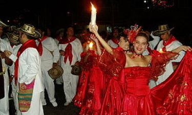 Colombians in the Carnival of Barranquilla