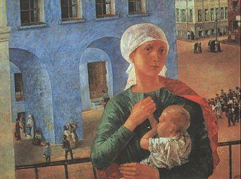K. Petrov-Vodkin. Petrograd Madonna