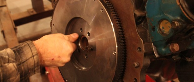 We bolted a flywheel to the 302; you have to be able to start it.