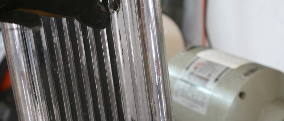 The aluminum is really starting to shine now, but we have one more step.