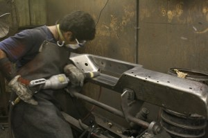 7.The final step in polishing is the cone buffer. This guy works the corners that the big wheels can't get to.