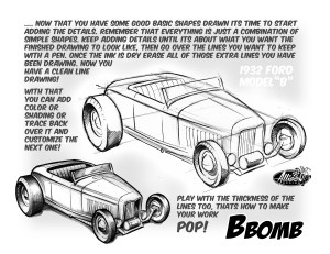Want to learn how to draw hot rods? Here you go.