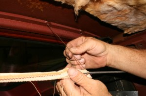 9.These small tension wires are important, carefully remove and store them for reuse.