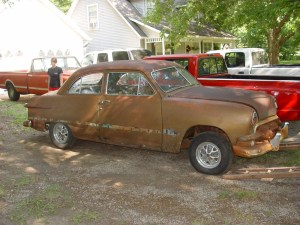 02.When we bought this 1951 Ford on the internet a few years ago it looked super solid. No rust, all the glass was in great shape and it still had a good flathead. On the internet……