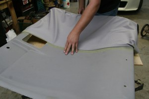 12.With one side down, the other half was pulled back a little and the process was repeated.