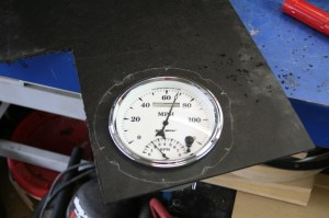 15.The gauge was test fit before cutting out the outer circle.