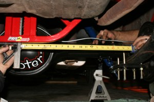 20.That measurement was then translated to the passenger side axle tube and the tube was marked.