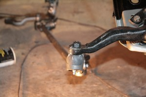 06.First we installed the tie-rod ends, but did not torque them yet.
