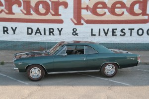 01.Few body styles have the sheer macho attitude of the '67 Chevelle. Rally wheels wrapped in Redline tires really set off the classic looks of this SS.