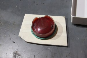 07.We did the same with other lens. This lens will form the inner section of the mold. In a typical two-part casting, a single enclosure would be built to capture both molds. This part is not very complex, so we skipped that part.