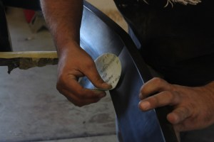 13.The sections where the spoiler and the bumper cover meet and are bonded by the double-sided tape.