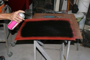 16.The rear pans started out as flat sheet metal, which Ramsey sprayed with weld-thru coating and a little undercoating.