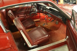 1.The original interior on this one owner, un-restored 1967 Mustang Fastback is in pristine condition. That is, all except for the carpet.