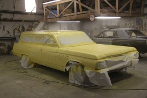 """04.Yes, it looks like a giant stick of margarine, hence the name """"Buttered Toast"""". We hit it with 2 coats, then sanded down a few rough spots and hit it with another two coats for a nice finish. It's going to stay in primer for a while."""