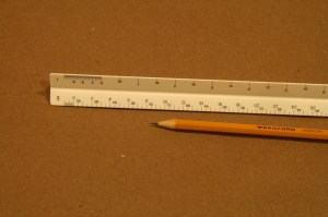 If you really want to make your rendering scale-accurate, you need an architect's ruler. These only cost a few bucks and very helpful.
