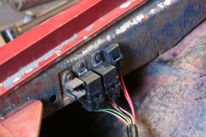 22.The relays were mounted to the inner side of the passenger fender. We kept everything close to the battery for simplicity.