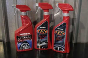 13.Wheels and tires are hard to clean, Mothers foaming tire and wheel cleaner is a spray-on, rinse of and let dry process.