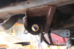 14. We tapped the bushing in place with a soft hammer. Sometimes this fits nice and easy without any work.
