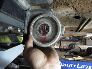 31. We used an angle finder to set the driveline angle. The optimum is between 2 and 5 degrees. We set ours at 2.5 degrees.
