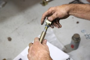 25. The adjustable strut rods were assembled with anti-seize and set to the stock length.