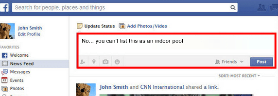 no you can't list this as an indoor pool