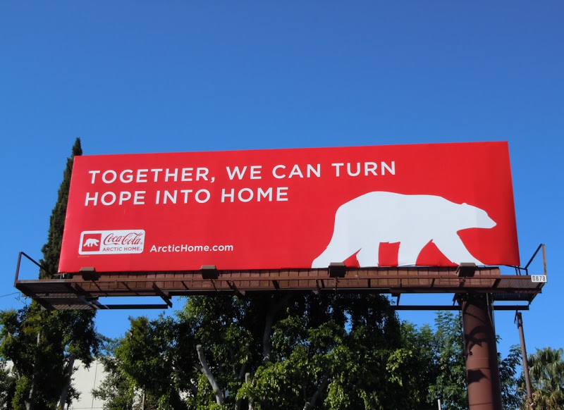 CocaCola polar bear billboard