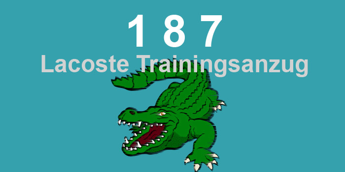 187 Lacoste Trainingsanzug