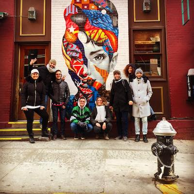 Little Italy Walking Tour | Audrey Hepburn Graffiti