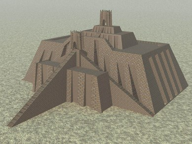 Rendering of the Great Ziggurat of UR