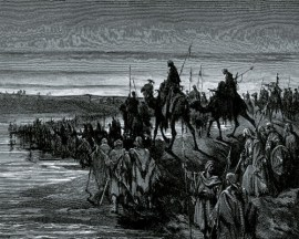 Gustave Dore 1883 - Israel Crossing the Jordon with Joshua