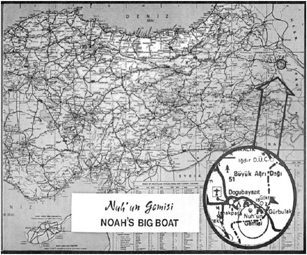 Fig.14 - Map of Noah's Big Boat