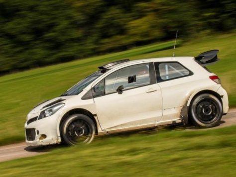 Toyota Yaris WRC на тестах