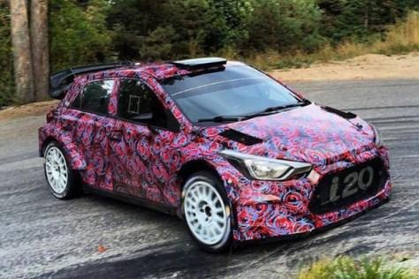 Hyundai i20 WRC 2016 - тесты во Франции 2015