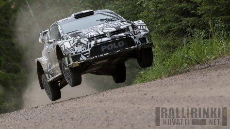 VW Polo WRC 2017 - Маркус Гронхольм - тест в Финляндии 21.07.2016
