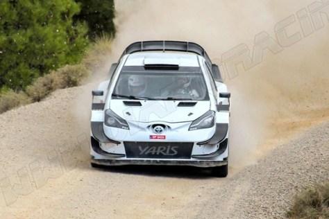 Э.Лаппи/Я.Ферм, Toyota Yaris WRC, тест в Испании, ноябрь 2017 года
