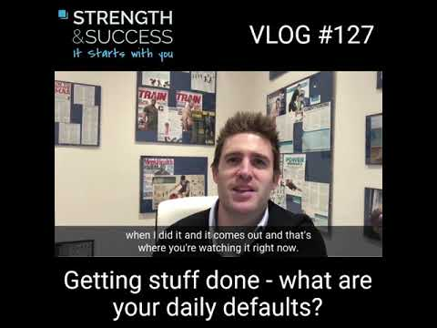 Getting stuff done – What are your daily defaults?