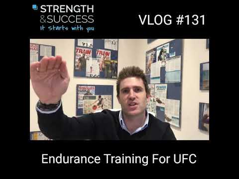 Endurance Training For UFC