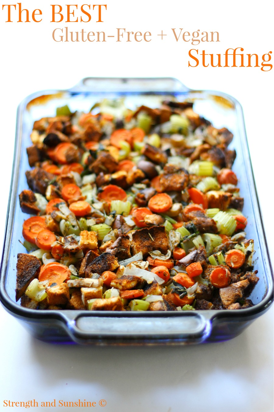 The Best Gluten-Free Vegan Stuffing | Strength and Sunshine @RebeccaGF666 Thanksgiving is never complete without some of The Best Gluten-Free Vegan Stuffing! Impress your guests with this essential side dish recipe that's safe for all food allergies, loved by all, and may just become the new star of the show!