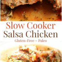 Slow Cooker Salsa Chicken (Gluten-Free, Paleo)