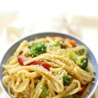 10-Minute Gluten-Free Vegetable Lo Mein (Vegan, Allergy-Free)