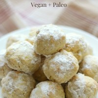 Grain-Free Italian Wedding Snowball Cookies (Gluten-Free, Vegan, Paleo)