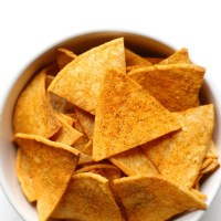 "Healthy Homemade Vegan Doritos ""Nacho Cheese"" Flavor (Gluten-Free, Allergy-Free)"