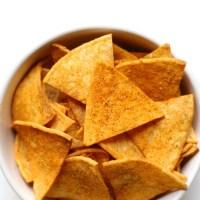 "Healthy Homemade Vegan Doritos ""Nacho Cheese"" Flavor (Gluten-Free, Allergy-Free)"