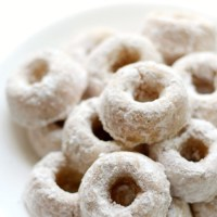 Gluten-Free Baked Mini Powdered Doughnuts (Sugar-Free, Paleo, Vegan, Allergy-Free) Copycat Hostess Donettes