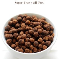 3-Ingredient Crispy Cocoa Air Fryer Chickpeas (Gluten-Free, Vegan, Allergy-Free)