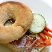 Gluten-Free Bagel with Vegan Carrot Lox & Cream Cheese (Allergy-Free)